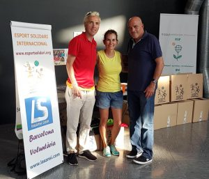 CCArenas de Barcelona i Josep Lluís Blanco, visites solidàries que sumen.